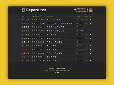 Departures - Airport Flipboard ui design ux design travel