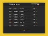 Departures - Airport Flipboard