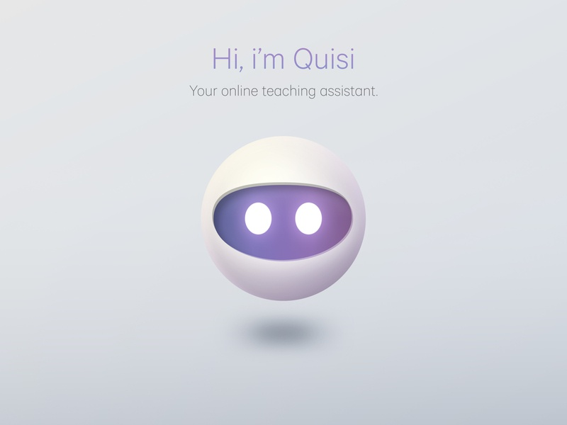 Quisi AI Assistant assistant vector ai chat bot chatbot visual design eyes head robot figma illustration design