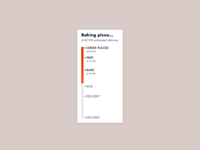 Daily ui 086 - Progress bar pizza tracker progress bar 086 daily ui