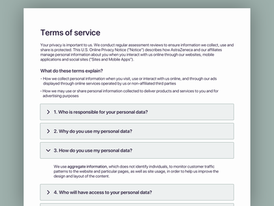 Daily ui 089 - Terms of service privacy policy terms of service 089 daily ui