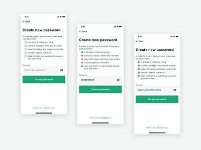 Daily ui 090 - Create new reset password create new 090 daily ui