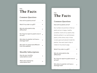 Daily ui 092 - FAQ frequently asked questions plants 092 daily ui