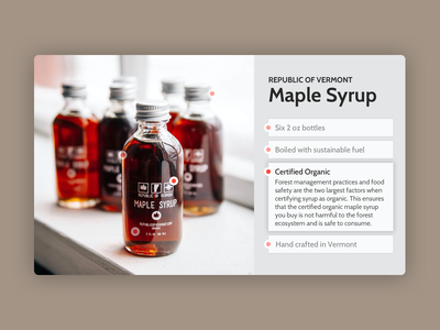 Daily ui 095 - Product tour maple syrup product tour 094 daily ui