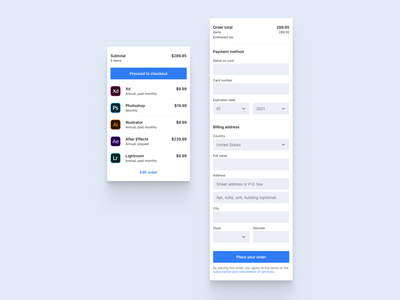 Daily ui 102 - Checkout remix order mobile cart credit card check out checkout 102 daily ui