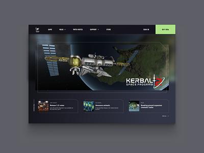 Daily ui 103 - Landing page remix kerbal space program ksp video game landing page 003 daily ui
