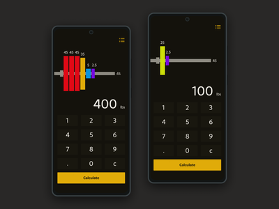 Daily ui 104 remix - Calculator plates barbell powerlifting strength weight training fitness health calculator 004 daily ui