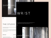 Studio website - Early ideas