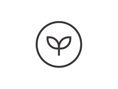 VEEG — Logo Design branding identity growth circle vegan logomark mark symbol badge leaf plant logo