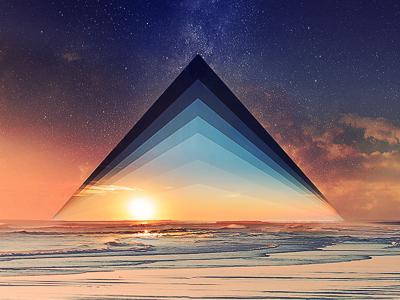 Skylines — Digital Illustration shapes waves lines digital illustration skyline horizon ocean wallpaper triangle photomanipulation