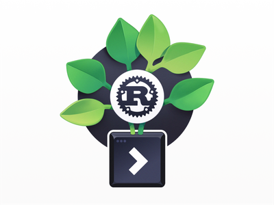 Digital Gardening with Rust cli growth leaves gardening developers programming course badge coding code