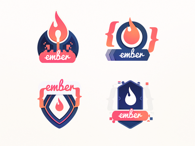 The Ember 2 Bench Warmers ember fire flame heat code education course badge developers programming class coding