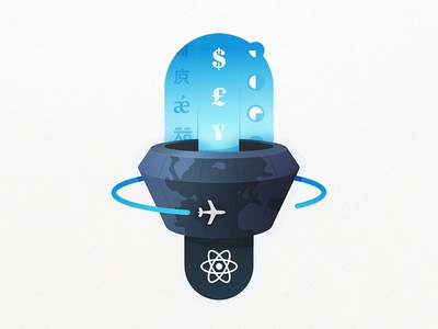React Goes International travel time zone coding course airplane globe countries currency languages international app react