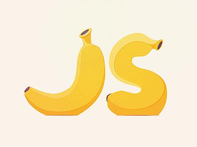 Javascript is Bananas coder programming peel yellow food development code coding js javascript fruit banana
