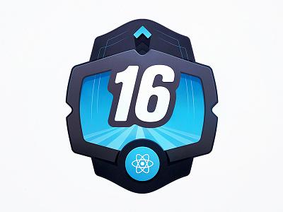 React Celebrates Sweet Sixteen badge course programming developers code facebook release upgrade update version sixteen react