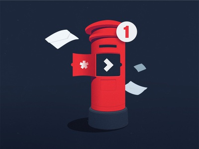 You've Got Email inbox send red subscribe mail envelope notification programming code postbox post email