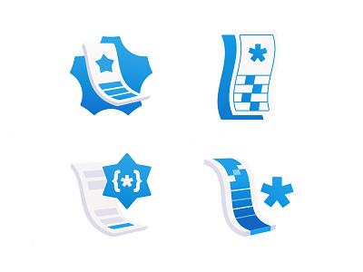 Enhanced Transcript Icons wave developers programming code coding logo education icon paper star transcript