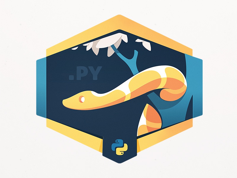 Programming Python wild animal code coding programming leaf tree reptile course jungle snake python