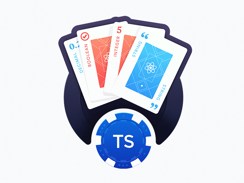 A Full Deck of React course gamble playing card categories types poker chip react coding poker game playing cards