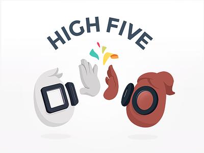 High Five Fridays community reward highfive egg smack slap confetti celebration fridays hands five high