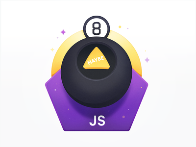 Magic 8 Ball Says Maybe programming development course choice decide decision unsure sparkle magic 8 ball ball javascript maybe