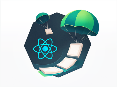 React Drag n' Drop Parachutes javascript tech developers education programming course badge atom coding code lists sorting cards flying delivery airdrop drag drop parachute react