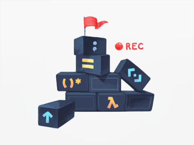 Building Up Code Blocks development tech developers education tutorials video lessons functional logic programming handbook recording tower lego toys structure coding code blocks building