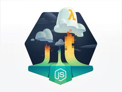 The Data Clouds are Rolling In education course developers programming coding badge code upload server cloud hosting tech javascript node lambda aws cloud computing data atmosphere sky cloud