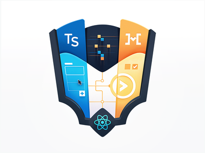 The Many-Layered React App app developer icon javascript development react tech developers education programming course badge coding code