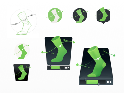 Greensock Evolution course evolution drafts wip timeline animation stages process foot feet greensock sock