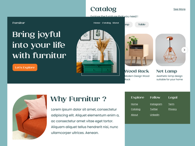 Furnitur. furniture user experience user interface design website ux branding graphic design ui