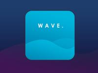 Daily UI #4 App Icon Design : WAVE.