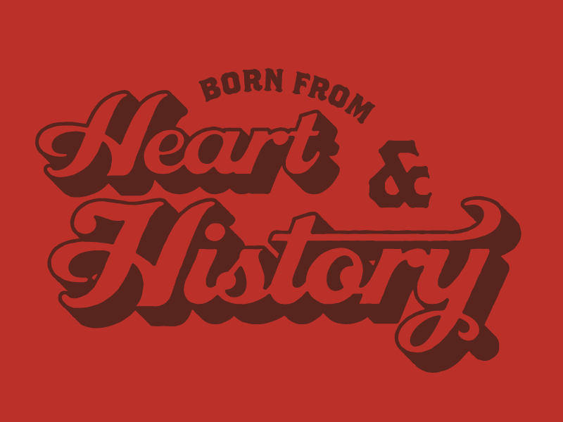 Heart & History typography type illustration