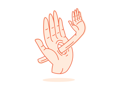 """""""High five bruh"""" steeze awesome design vector drawing hands high-five illustration"""