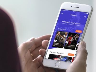 Ticket IQ Concept mobile app ios design product design