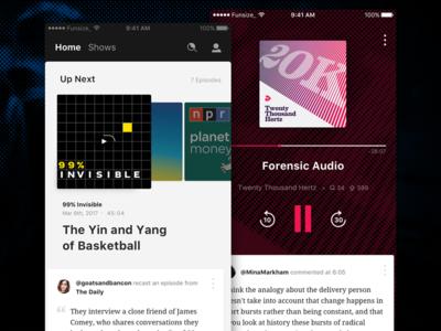 Banter - iOS funsize design ui mobile playback listening podcast podcasting ios