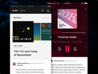 Banter - iOS funsize design ui mobile playback listening podcast podcasting ios