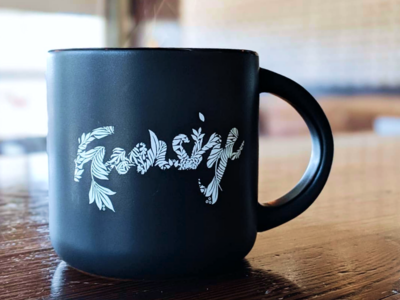 Floral Cup illustration design fnsz floral coffee typography logo funsize
