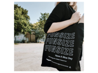 Funsize - Tote Bag tote totebag typography austin fnsz illustration design funsize