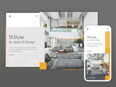 Interior Design UI Concept