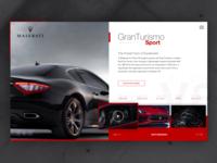Maserati GranTurismo Sport - UI Concept