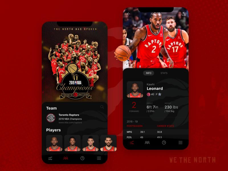 NBA Champs Mobile UI Concept ux desgin ui deisgn uiux app design mobile design ui design basketball wethenorth nba mobile app mobile ui