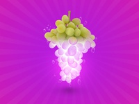 Grapes Glowing Effect