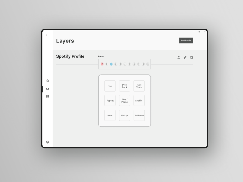 Layers Page - Macropad Case Study uxdesign ux uidesign desktop design desktop