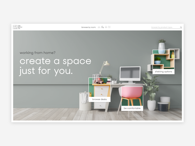 Intuitive ecommerce website for home offices store ecommerce covid coronavirus remotework green minimal website design minimalist minimal office website office ikea furniture furniture website websites website design website concept polaroid editorial website