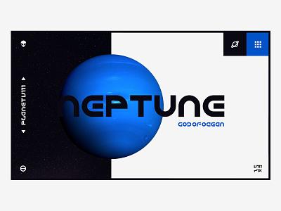 The Blue Planet negativespace planet website concept website design desktop universe space cta button black blue webdesign neptune alien