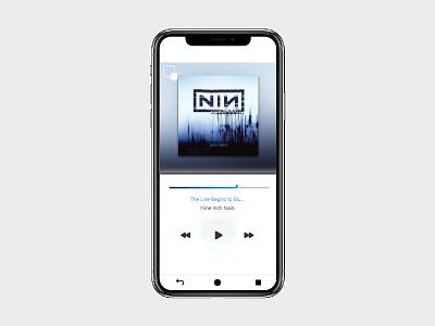 Daily UI: 09 - Music Player nin dailyui009 music app player music ux ui dailyui adobe graphic design