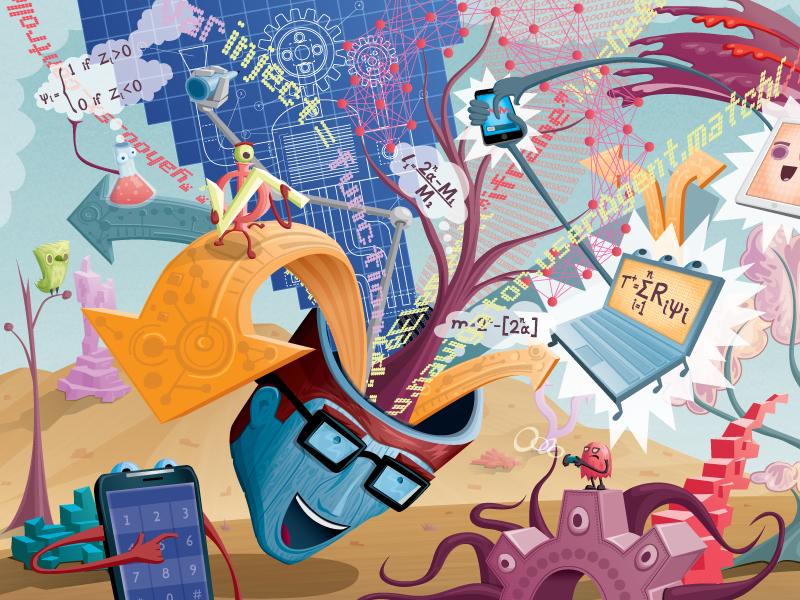 Yahoo Mural - Detail Image 1 vector illustration mural collabo arts yahoo