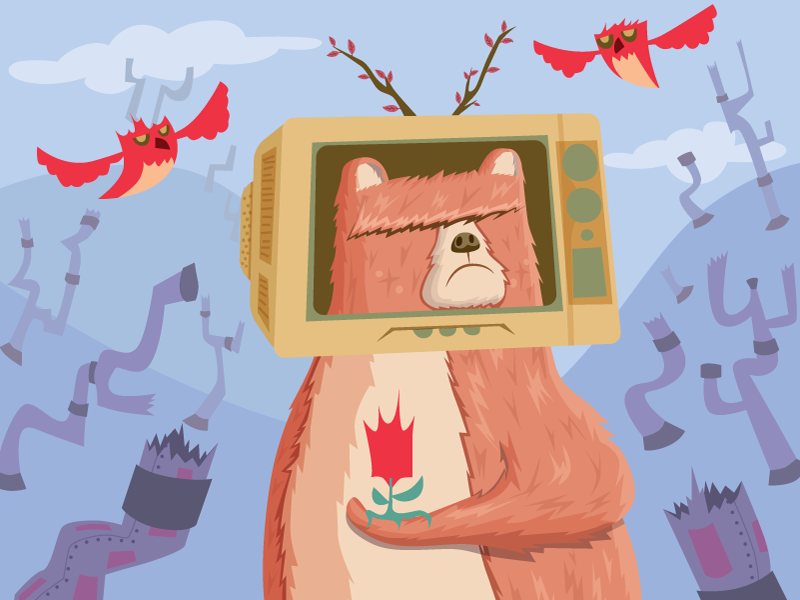 In-progress: Bear V1 skillshare class vector