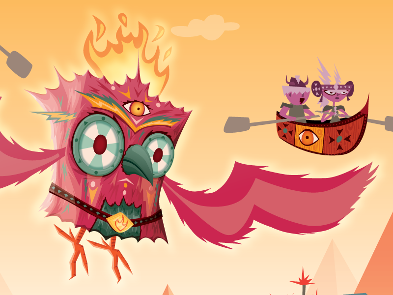 Middle III phoenix vector illustration bird fire